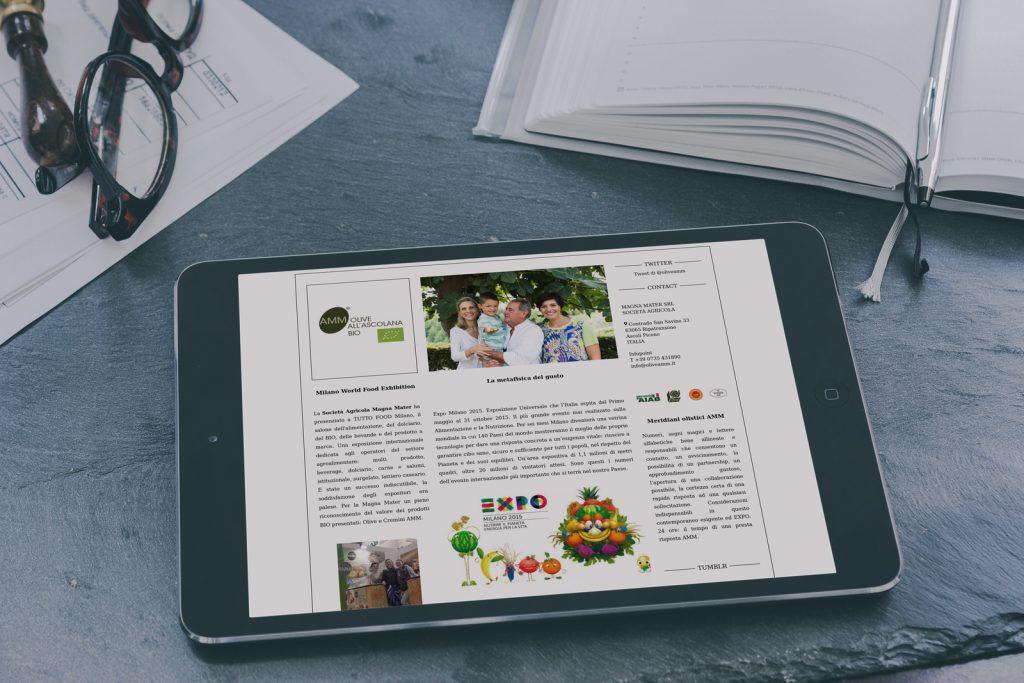Sito web Olive all'Ascolana Bio AMM