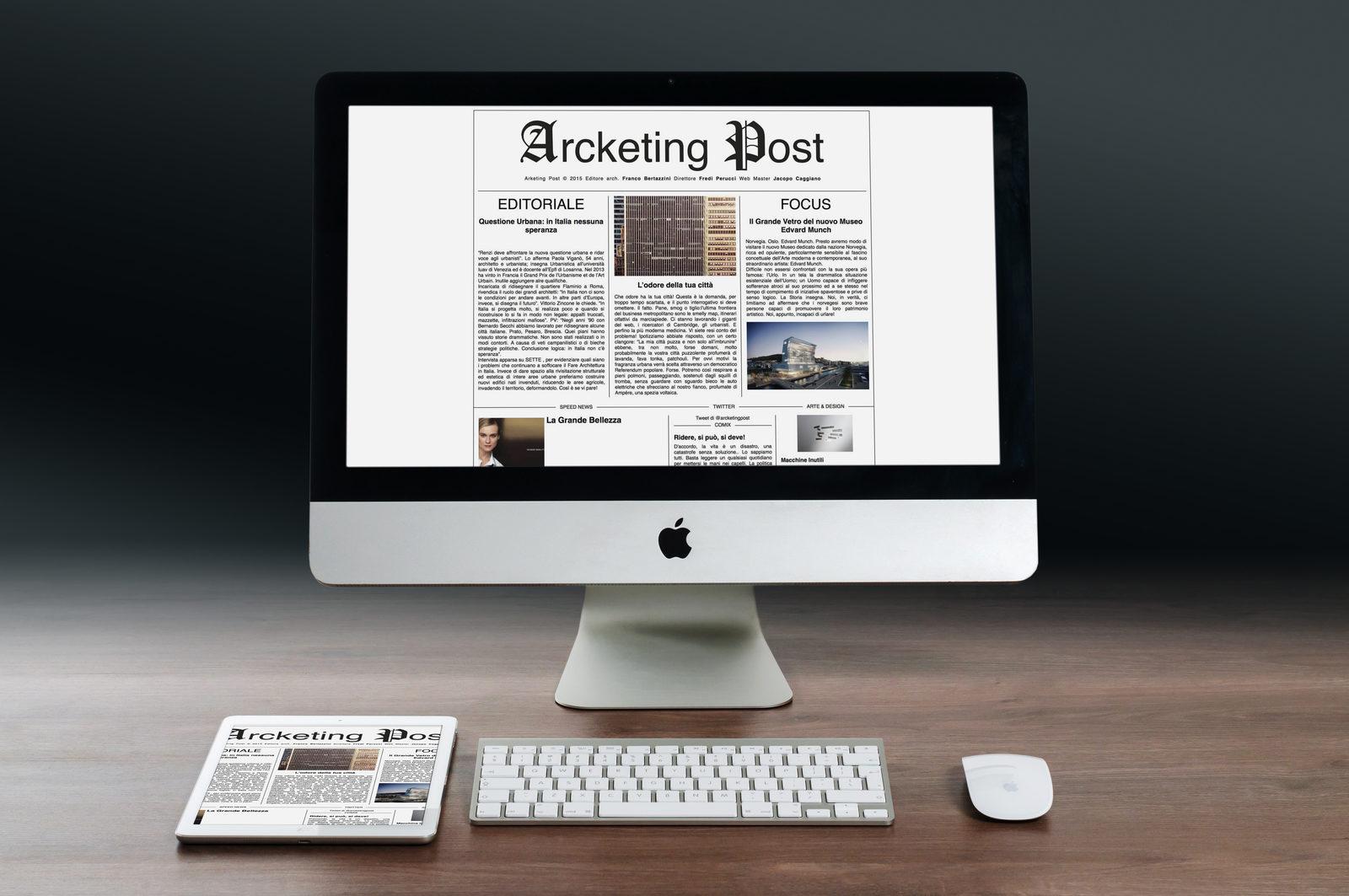 Arcketing Post web site