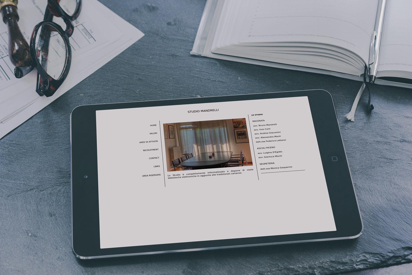 Sito Web Studio Legale Mandrelli
