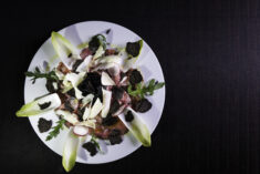 Food Photography - Carpaccio with black truffles