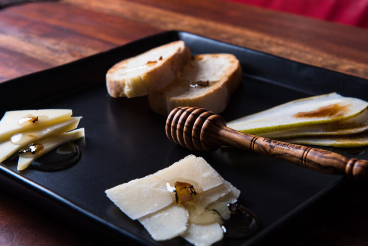 Italian cheeses and truffle honey